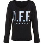 "Tally Weijl Black ""O.F.F."" Printed Sweater"