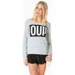 "Tally Weijl Grey ""Oui!"" Printed Sweater"
