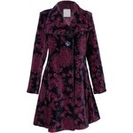 Nomads JASMIN dámský sametový kabát - modrozelená - Velikost oblečení: 10