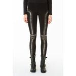 Tally Weijl Black Metallic-Embellished Leggings