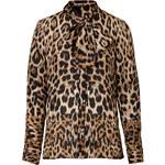 Roberto Cavalli Leopard Print Tie Neck Blouse
