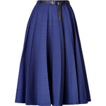 Vionnet Pleated Skirt with Leather Belt