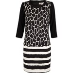 Marks and Spencer Limited Edition Striped & Giraffe Print Shift Dress