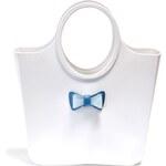 Dámská bílá taška s mašličkou Favolla