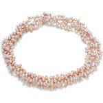 Růžový perlový náhrdelník Orchira