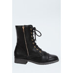 Tally Weijl Black Lace & Zip-Up Ankle Boots