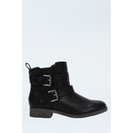 Tally Weijl Black Buckle & Strap Ankle Boots