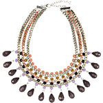 RUBIES AND ROCKS Statement-Kette INDIE schwarz