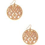 FOREVER21 Floral Disc Earrings