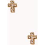 FOREVER21 Rhinestoned Cross Studs