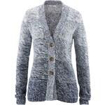 Pletený kabátek s dlouhým rukávem bonprix