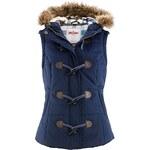 Prošívaná vesta s kapucí bonprix