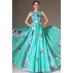 Plesové barevné šaty bez výstřihu 068 eDressit