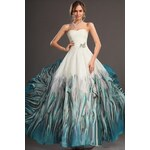 Luxusní plesové dámské šaty eDressit - barva bílá - Velikost XS