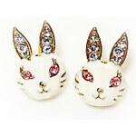 Betsey Johnson náušnice Rabbit Only White