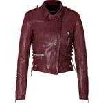 Barbara Bui Laced Leather Biker Jacket