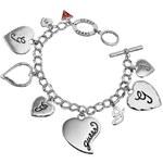 Guess Multi Heart Charm Bracelet