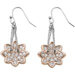 Guess PAVE CURVE FLOWER DROP EARRINGS