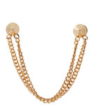 ASOS Spike Collar Pins With Double Chain