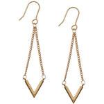 Topshop **Ohrhänger mit Dreiecksanhänger an Ketten - Gold