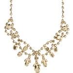 ASOS Premium Jewelled Bib Necklace - Gold