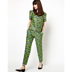 Boutique By Jaeger Tailored Trouser In Floral Jacquard