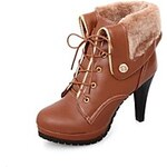LightInTheBox Women's Stiletto Heel Round Toe Ankle Boots (More Colors)
