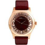 Marc By Marc Jacobs Henry Skeleton Burgundy Watch
