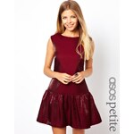 ASOS PETITE Exclusive Drop Waist Metallic Dress