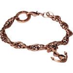 Icon Brand - Armband mit Anker-Anhänger - Silber/Kupfer