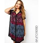 ASOS CURVE Exclusive Shirt Dress In Mixed Print