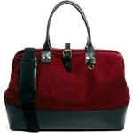 ASOS Felt Doctors Bag With Leather Trim