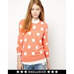 CC Cashmere by John Laing Crew Neck Jumper with Polka Dots in 100% Cashmere
