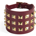 Valentino Leather Big Bracelet with Rockstuds