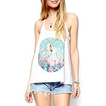 LightInTheBox Women's The Letters Printing Oil Painting Vest