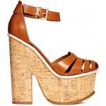 ASOS PERTH Leather High Heels - Tan