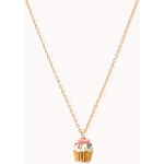 FOREVER21 Bejeweled Cupcake Pendant