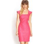 LOVE21 Textured Lace Sheath Dress