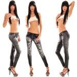 Fashion Černé vzorované legíny (Universal)