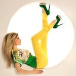Fashion Žluté džíny s páskem (36)
