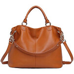 LightInTheBox Women's New Fasion Large CapacityGenuine Leather Handbags Cowhide Shoulder Bag Band Crossbody Bag