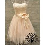 Dámské plesové/svatební šaty Paulo - béžová