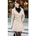 Dámský zimní kabát Agather Béžový - béžová