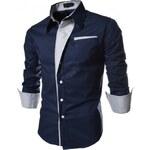 Pánská košile Slim Fit Terito modrá - modrá