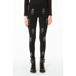 Tally Weijl Black Skull Embellished Leggings