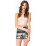 Tally Weijl Black Sequin Embellished Crop Top