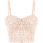 Tally Weijl Pink Sequin Embellished Crop Top