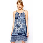 Mango Blue Paisley Print Short Dress - Blue