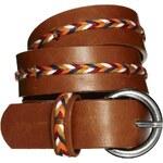 Mango Thread Braid Belt - Orange