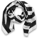Esprit bi-colour striped scarf with silk